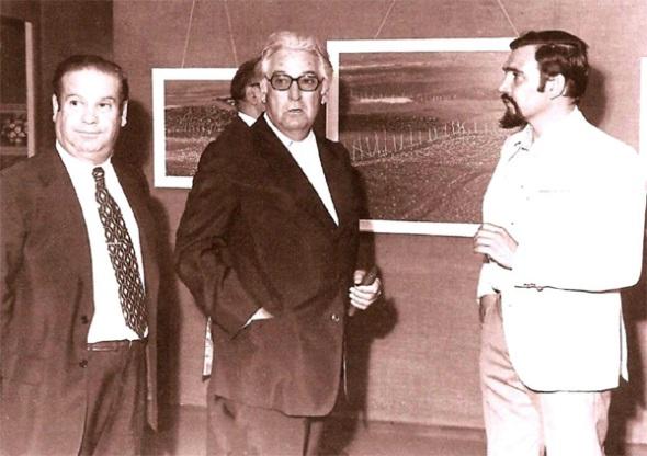 El pintor Francisco Lozano junto a Fran MirInauguración de Exposición Mirbelenguer