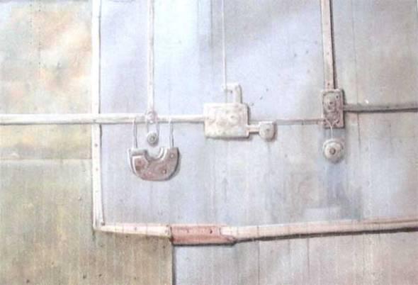 Serie RemiendosAcrílico sobre lienzoTamaño 50x60 cm