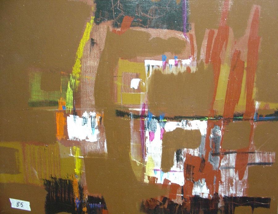 16 n 461 paisaje abstracto acrilico con espatula sobre - Acrilico sobre lienzo ...