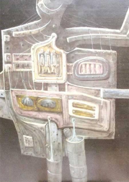 El personaje Acrílico sobre tablex Tamaño 60x60 cm