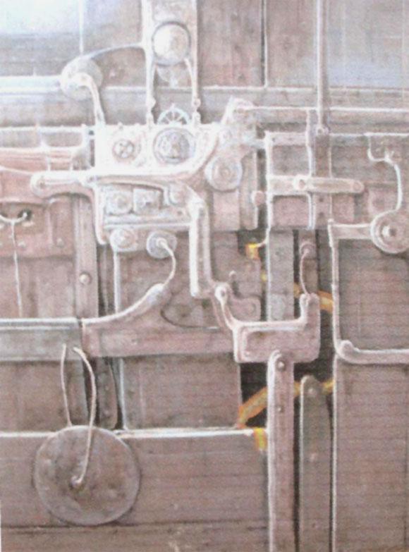 Formas Obsoletas Acrílico sobre tablex Tamaño 66x58cm