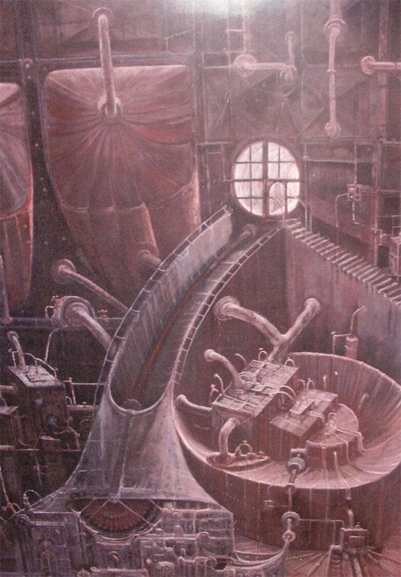 Máquina de reconvertir. (imaginación)´Óleo sobre tablex. Tamaño 160x122cm