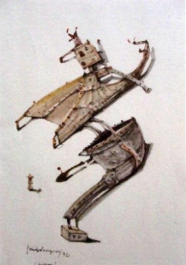 Residuos 1 (imaginación)Acuarela Tamaño 32x21 cm