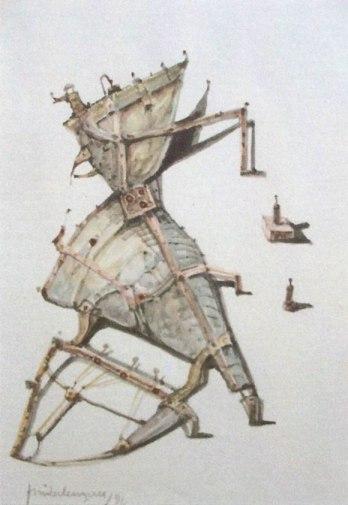Residuos 2 (imaginación)Acuarela 32x21cm