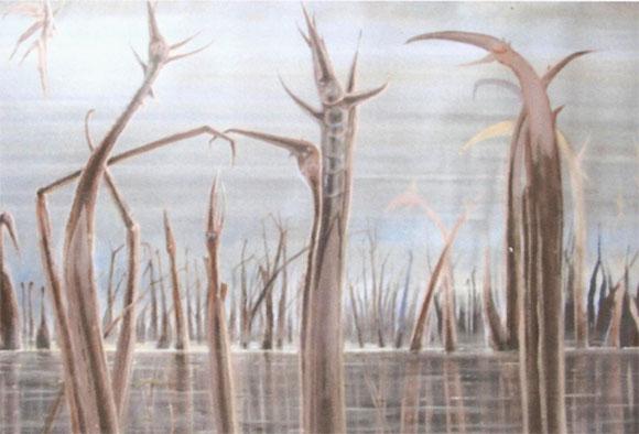 Serie familia bichos 3 (imaginación)Acrílico sobre lienzo. (sin terminar) Tamaño 73x73cm