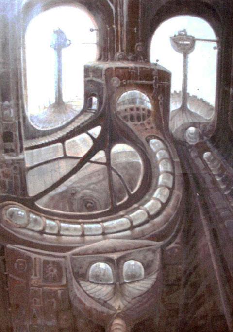 Serie máquinas- El observatorio (imaginación)Óleo sobre lienzo Tamaño 162x130cm