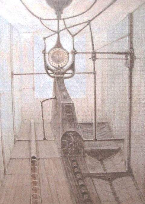Serie máquinas- PresiónÓleo sobre lienzo. Tamaño 97x130cm