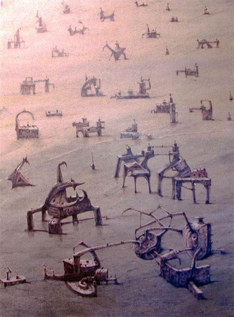 Serie parques 1- (imaginación)Acrílico sobre lienzo. Tamaño 116x89cm