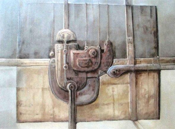 Serie Remiendos nº 320 (Dibujo imaginación)Técnica acrílico  Tamaño 50x60cm