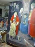Finalizada la obra: Sala de la pila bautismal de la Iglesia de San Vicente Mártir de Benimamet. Agosto 2007