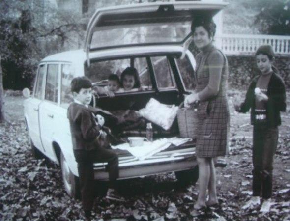 La Familia en su viaje a Alcorta.Año 1970