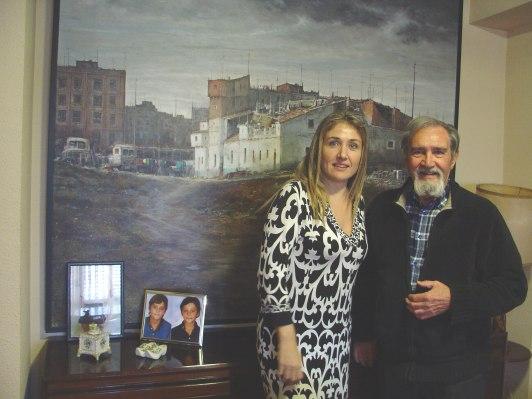 El pintor Francisco Mir Belenguer y Olivia Elsie Sánchez