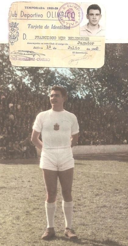 Fran Mir Belenguer en el Olímpico de Xàtiva.Año 1958